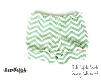 BUBBLE SHORTS SEWiNG Pattern - Sizes 12 months - 8 - Girls Shorts Pattern - Easy Sewing Pattern