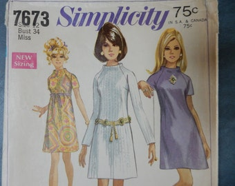 Jiffy Dress Tunic Simplicity 7673  Misses Size 12