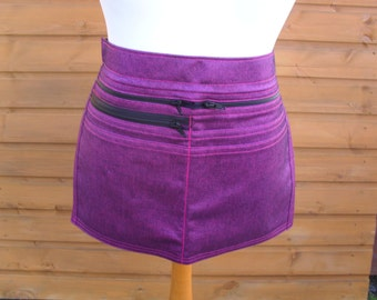 Is it pink or purple - Denim Market Trader / Vendor Money Pocket / Money Apron