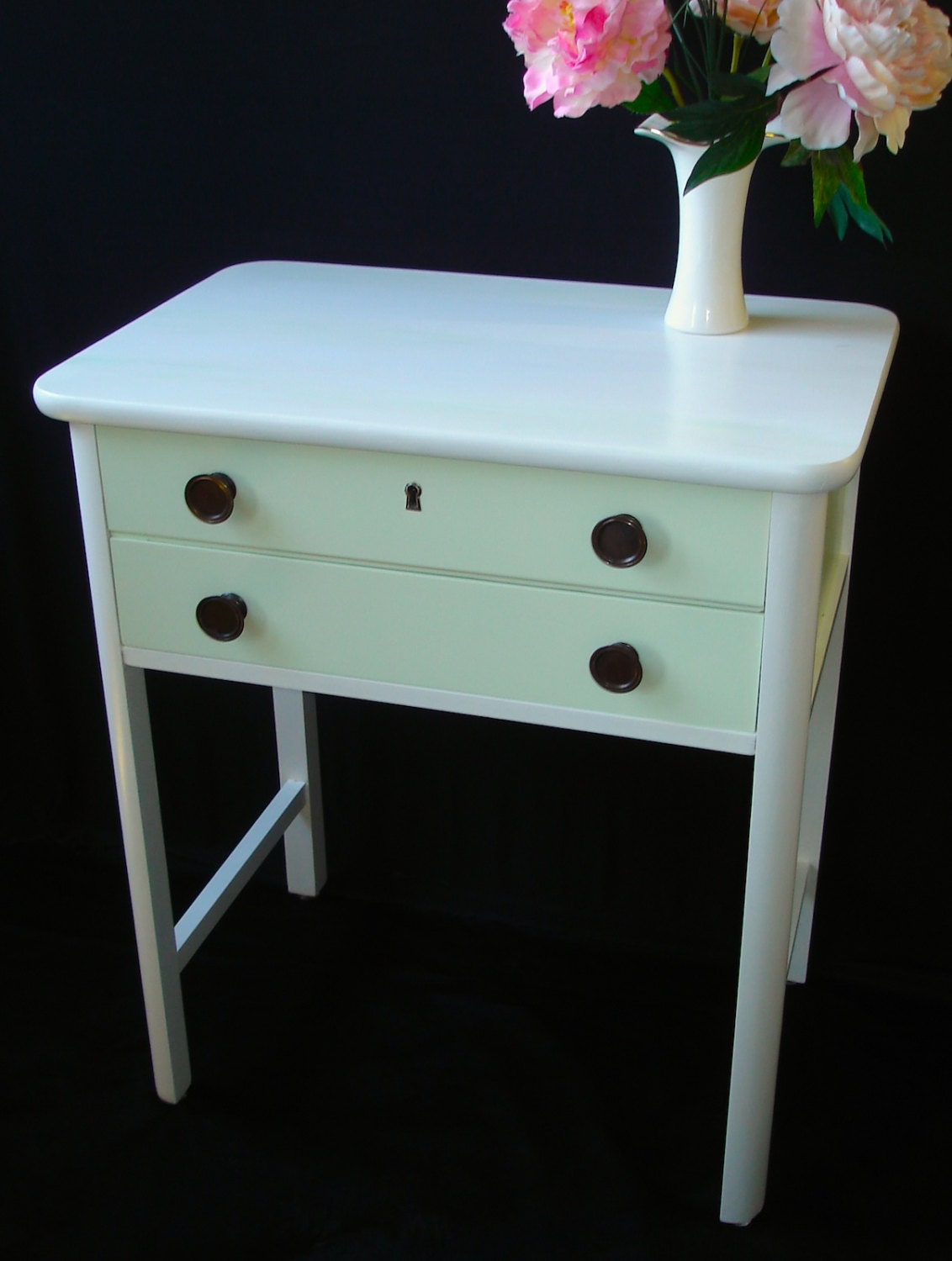 Small Foyer Table Chest : Vintage chest of drawers entryway table by findingscreations