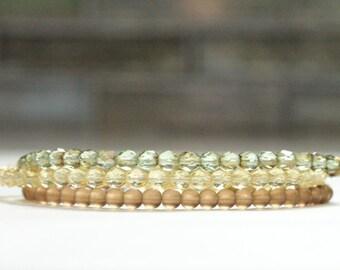 spring jewelry gift / stretch bracelets SET beaded boho chic bracelets / skinny stacking bracelets