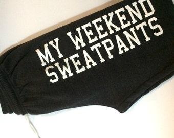 My weekend sweatpants dark grey heather comfy