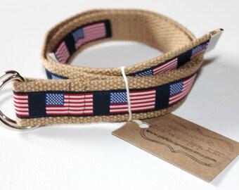 American Flag Belt- Adjustable D-Ring Belt for Children