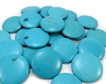 Large Gemstone Beads, 4 Blue Magnesite 40mm Round Beads, Wire Wrapping Stones, Jewelry Making Supplies, Item 126gsm
