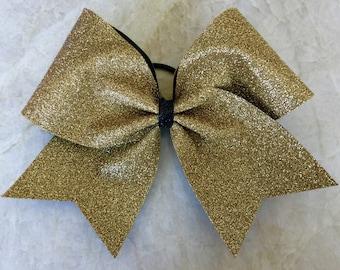 Cheer Bow - Gold Glitter