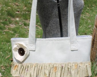 Shabby chic ruffle purse