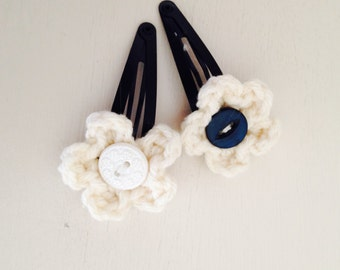 Crochet Hair Slides