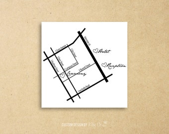 Custom Map | Wedding | Printable Digital File