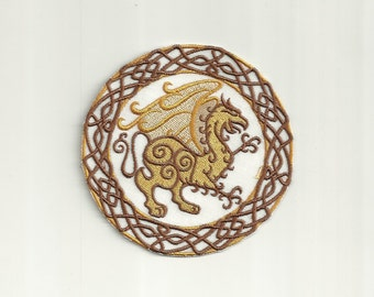 Celtic Griffin Patch! Custom Made!