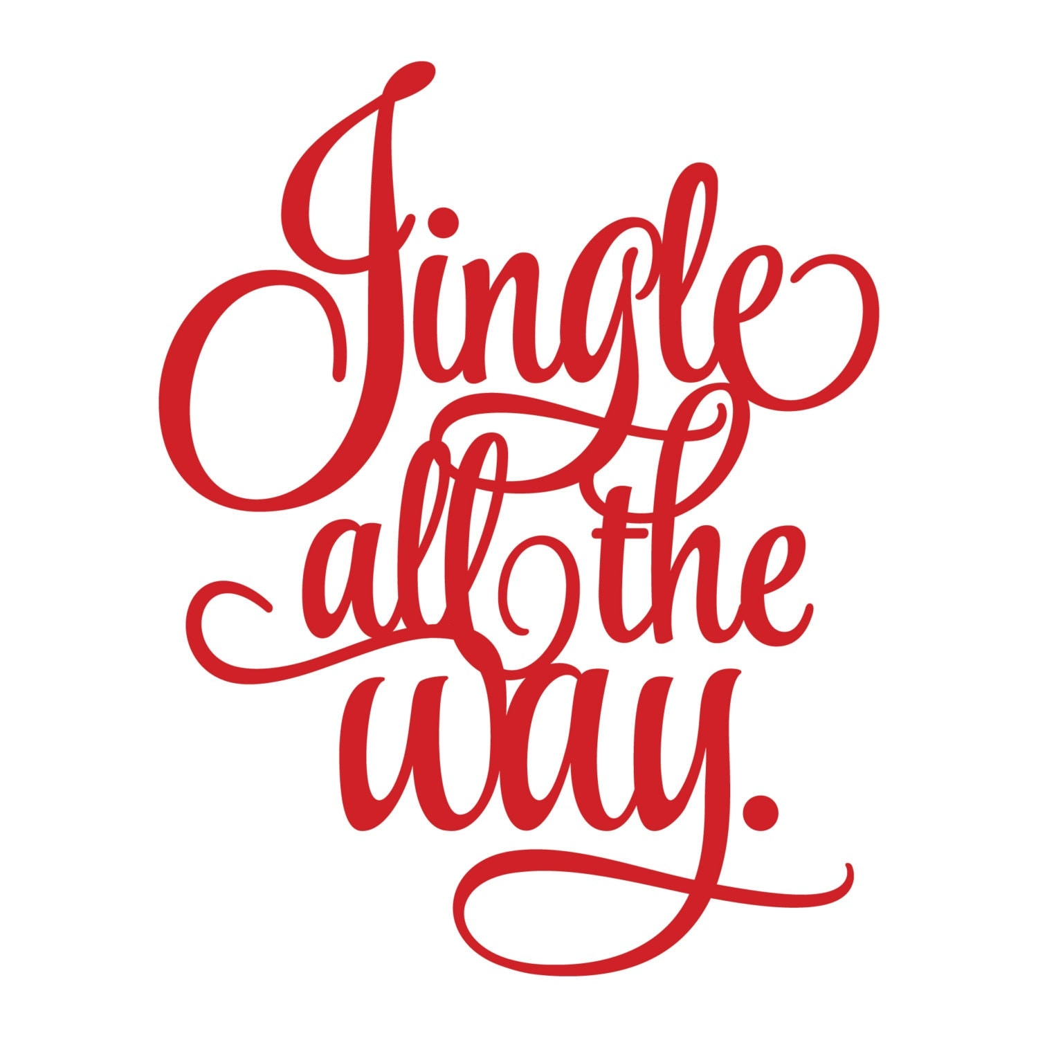 jingle all the way holiday vinyl sticker by amberrockstar Christmas Ornament Clip Art Christmas Present Outline Clip Art