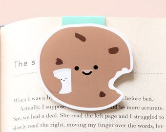 Cookie Holding Milk Magnetic Bookmark (Jumbo)