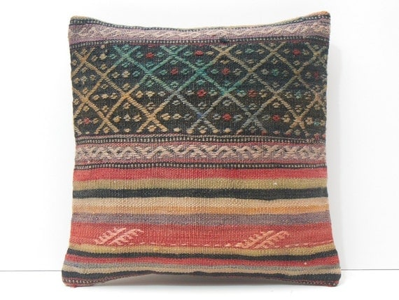 Rustic Fabric Pillow Throw Pillow Turkish By