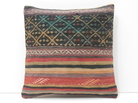 rustic fabric pillow throw pillow turkish by DECOLICKILIMPILLOWS