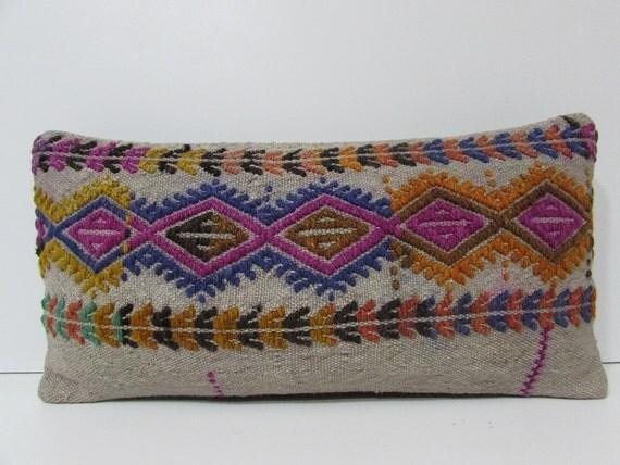 colorful lumbar pillow burlap pillow cover rustic pillow case