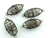 50% OFF 8pcs Antique Brass Wire Wrap Beads 20x45mm 102308-D