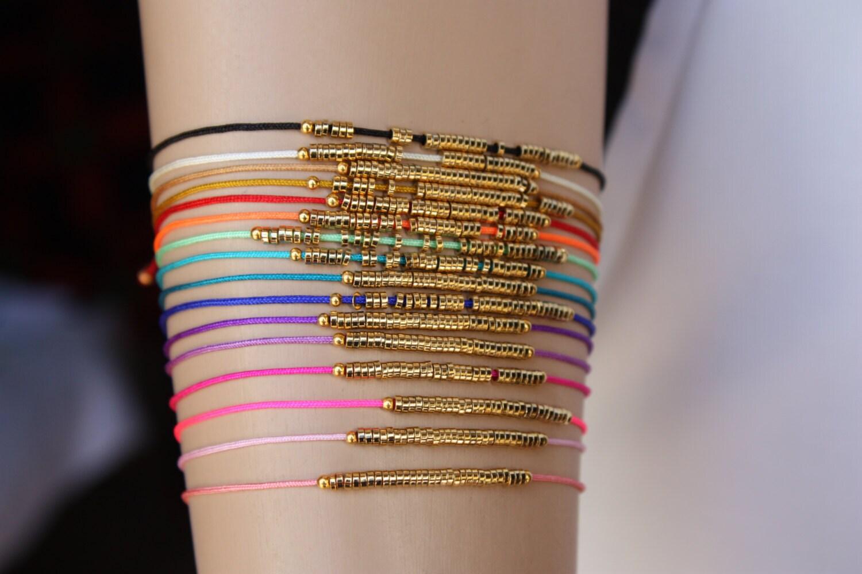 Friendship Bracelet 16 Colors Thread Bracelets With Gold