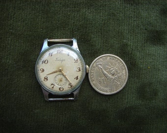 Vintage Soviet Mens Watch POBEDA / Russian Vintage Mens Watch PCHZ Petrodvoretz // Mechanical watch / USSR / Soviet Union era 1950s