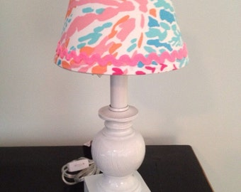 Lilly Pulitzer Lampshade in Let's Cha Cha  lamp shade ONLY