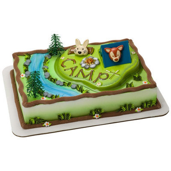 camping cake decoration