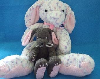 Teddy & Rabbit pdf pattern