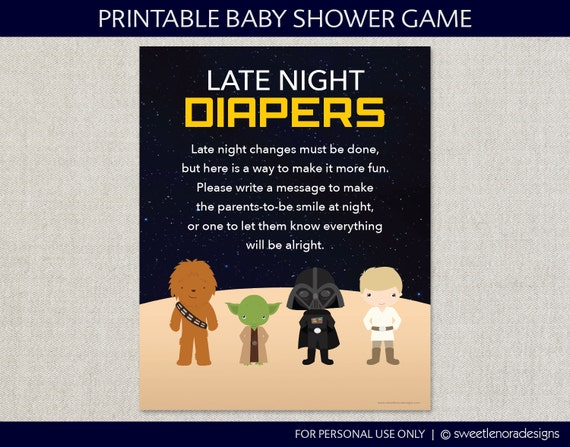 star wars late night diapers sign printable by sweetlenoradesigns