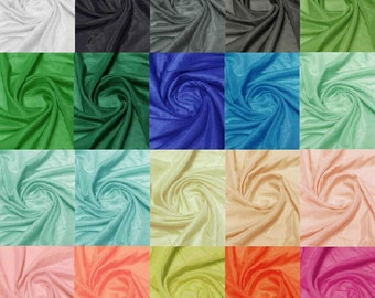 Many Colors Choices Top Quailiy Natural Silk Cotton Blend Solid Color Fabric Fabric by the Yard 18 Colors 9mumi Width 53""