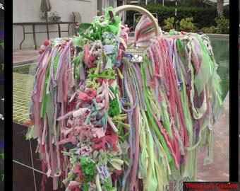 Beads & Rhinestone Fringe Handbag,Bling,Sparkle,Pastel Colors,Custom Made,One Of A Kind,Hippie,BoHo,Funky,Purse,Tote