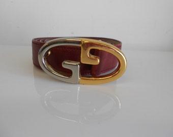 Vintage Gucci Belt  70s  80s  Burgandy