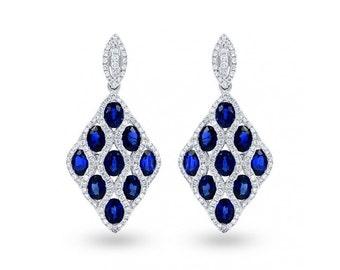 Vogue Blue Sapphire Earrings