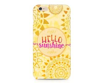 Hello Sunshine Phone Case, Sunny Phone Case, Summer Phone Case, Cute Phone Case, iPhone 8, Samsung Galaxy S9
