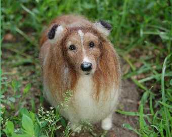 Custom Needle Felted Dog Portrait/Sculpture