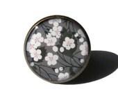 Cherry Blossom Ring, Sakura Ring, Sakura jewelry, Adjustable Ring, Flower Ring, Floral Ring, White Flowers, Picture ring