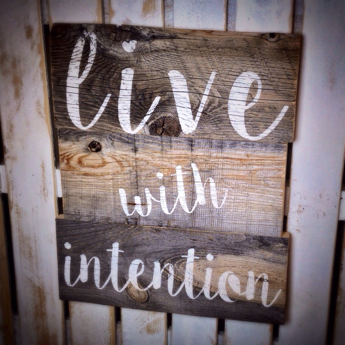 Rustic Reclaimed Barn Wood Sign Inspirational Sign Wood Sign