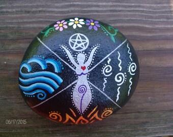 MADE-TO-ORDER Elemental Goddess Home Protection Stone/Altar Stone/Garden Stone