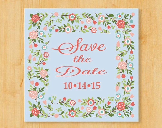 Save the Date Labels | 2 Inch Square | Wedding Invitation Labels  | Wedding Stickers