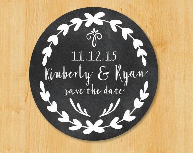 Save The Date Labels | Wedding Invitation Labels | Bridal Shower Labels | Return Address Sticker | Custom Stickers | Round Address Label