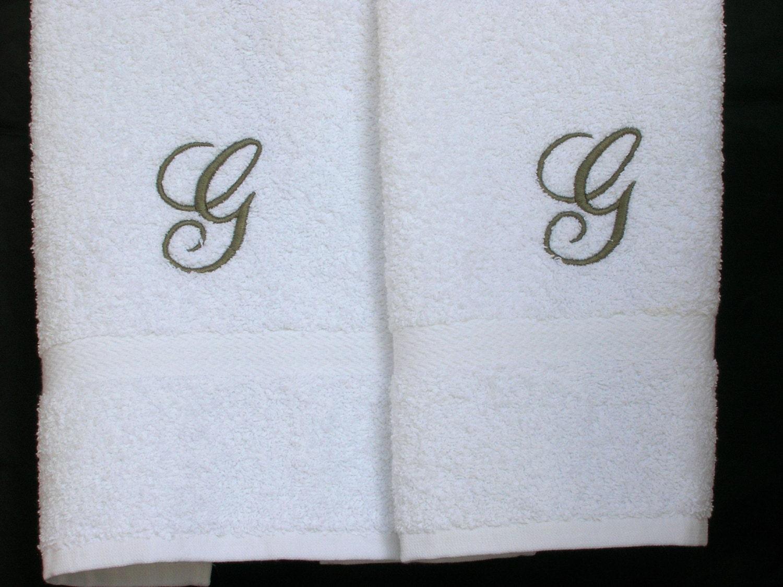 monogrammed towels letter g towels cotton hand towels With towels with letters