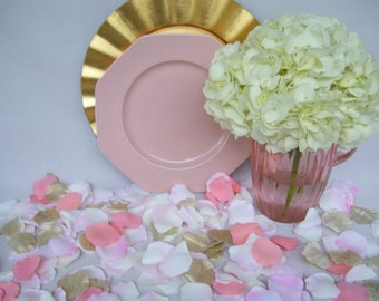 800 Blend of Blush Hues Silk Rose Petals, Packed 800 Petals,Petals for Aisle, Wedding,Ceremony,Isle