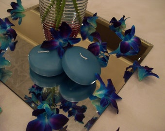 6 Turquoise Floating Candles, Available in 20 Colors