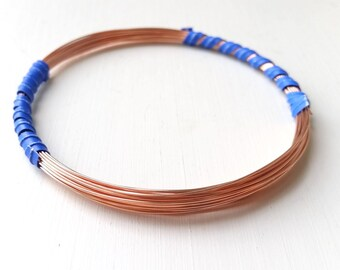 24ga half-hard 2# copper wire, 20 feet, 99.9% pure copper - bare wire - #CW24R-HH - 20'
