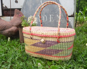 Purse/Straw Purse/Bag/Hand Bag/Straw Bag