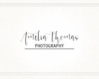 Premade Handwritten Modern Photography Watermark + Logo - L047