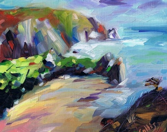 Three Cliffs Bay, The Gower,  limited edition giclee print. Edition of 100
