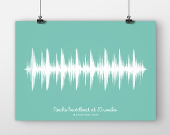 Soundwave Baby Heartbeat Print
