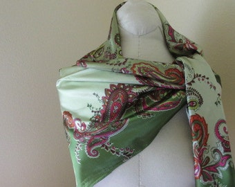 SALE - Square Silk Scarf