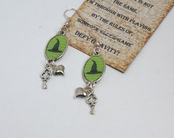 Defy gravity, wicked the musical earrings