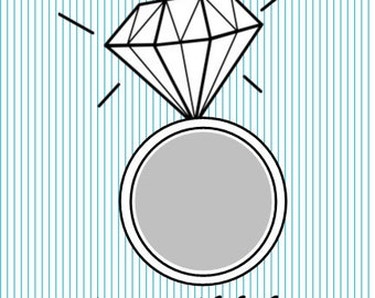 30 Diamond Ring Bridal Shower Scratch Off Cards