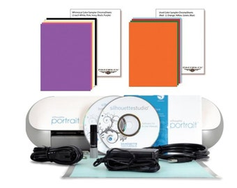 Silhouette Portrait Cutter Bundle with 20 ChromaSheets