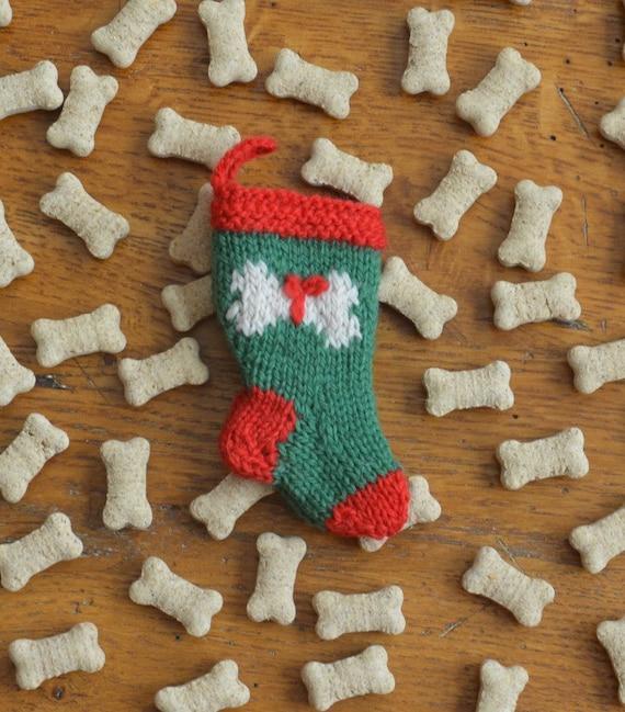 Dog bone christmas stocking ornament pet by handmademaryellen for Dog bone ornaments craft