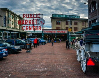 Pike Place Market, in Seattle, Washington - Photography Fine Art Print or Wrapped Canvas